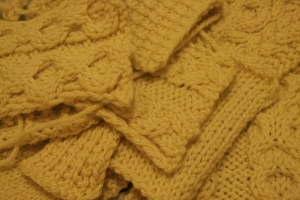 cable knit swatches