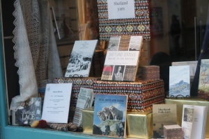 Window display at Lerwick bookshop
