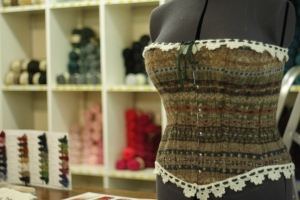Stunning wool corset at Jamieson's