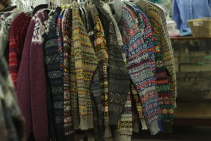Machine-knit jumpers at Jamieson's - I want them all!