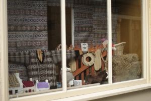Another woolly window in Lerwick