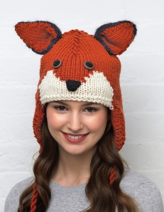Another one we featured in Knit Now - Vanessa Mooncie's fab fox hat from her animal hats book.