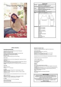 A preview of the pattern - cleanly formatted, including a schematic and  full instructions for 10 sizes